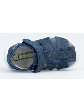 Текстильная обувь Котофей оптом 221097-11 синий (22-26)