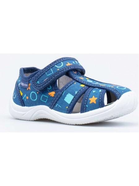 Текстильная обувь Котофей оптом 221111-11 синий (22-26)