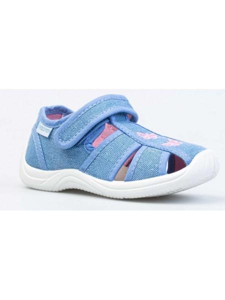 Текстильная обувь Котофей 221116-11 голубой (22-26)