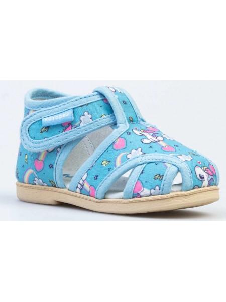 Текстильная обувь Котофей 221118-73 голубой (22-26)