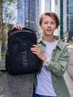 Рюкзак SkyName 90-103 черный/зеленый 30Х20Х40