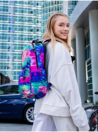 Рюкзак для подростков SkyName 77-03 мультиколор 26х15х41