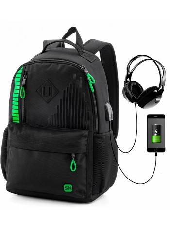 Рюкзак для подростков SkyName 80-46 черный 30х16х42
