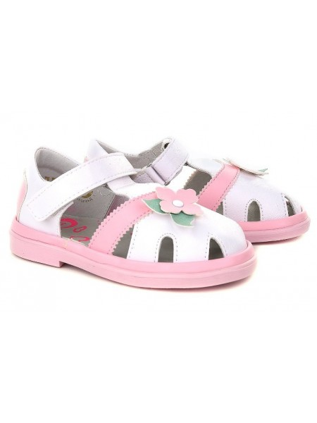 Туфли открытые BUMI 3206-11 белый/розовый (23-26)