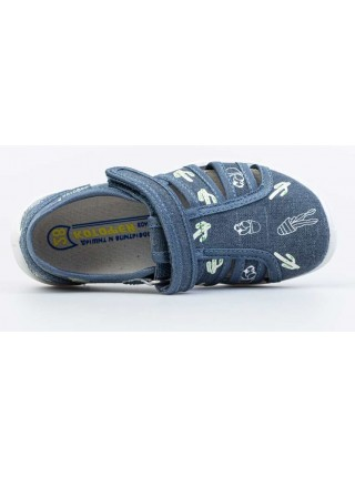 Текстильная обувь Котофей 421076-13 синий (27-33)