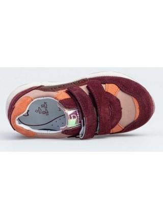 Кроссовки из натуральной кожи Котофей 332125-25 розовый/красный (25-29)