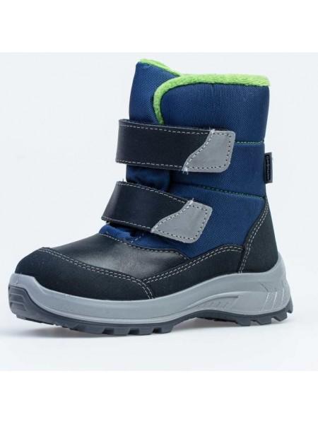 Ботинки зимние Котофей 454062-43 синий/зеленый (27-31)