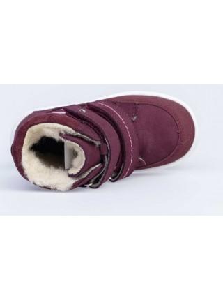 Ботинки зимние из натуральной кожи Котофей 352259-42 бордовый (25-29)