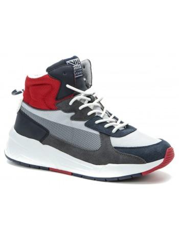 Ботинки зимние CROSBY 418271/03-02 серый-красный (40-45)