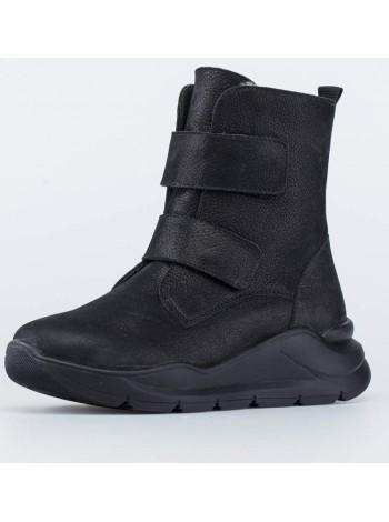 Ботинки зимнии из натуральной кожи Котофей 752205-52 черный (36-40)