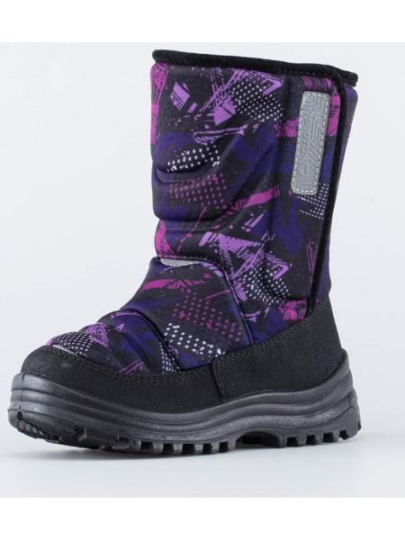 Сапоги зимние Котофей 464050-49 черный-фиолетовый (27-31)