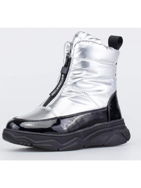 Ботинки зиминие Котофей 554076-41 серебро (31-35)
