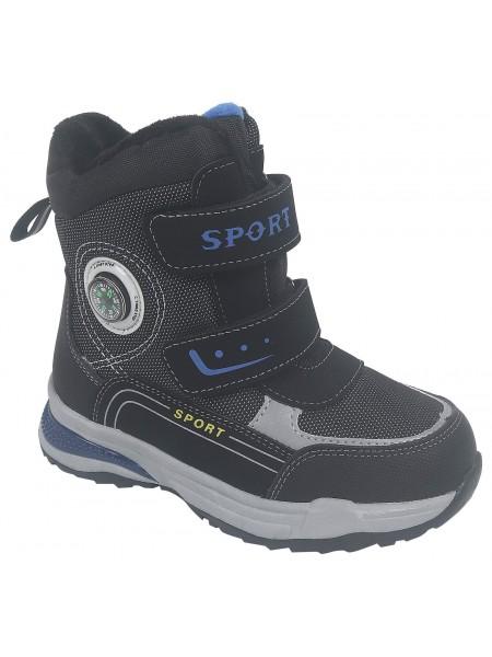 Ботинки зимние Tom&Miki B-9729-A черный (27-32)