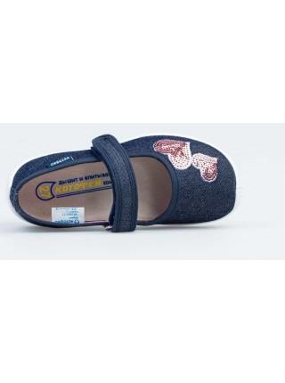 Текстильная обувь Котофей 431157-11 синий (27-31)