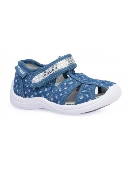Текстильная обувь Котофей 221100-11 синий (22-26)