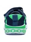 Кроссовки со светодиодами Котофей 344314-14 синий/зеленый (25-30)