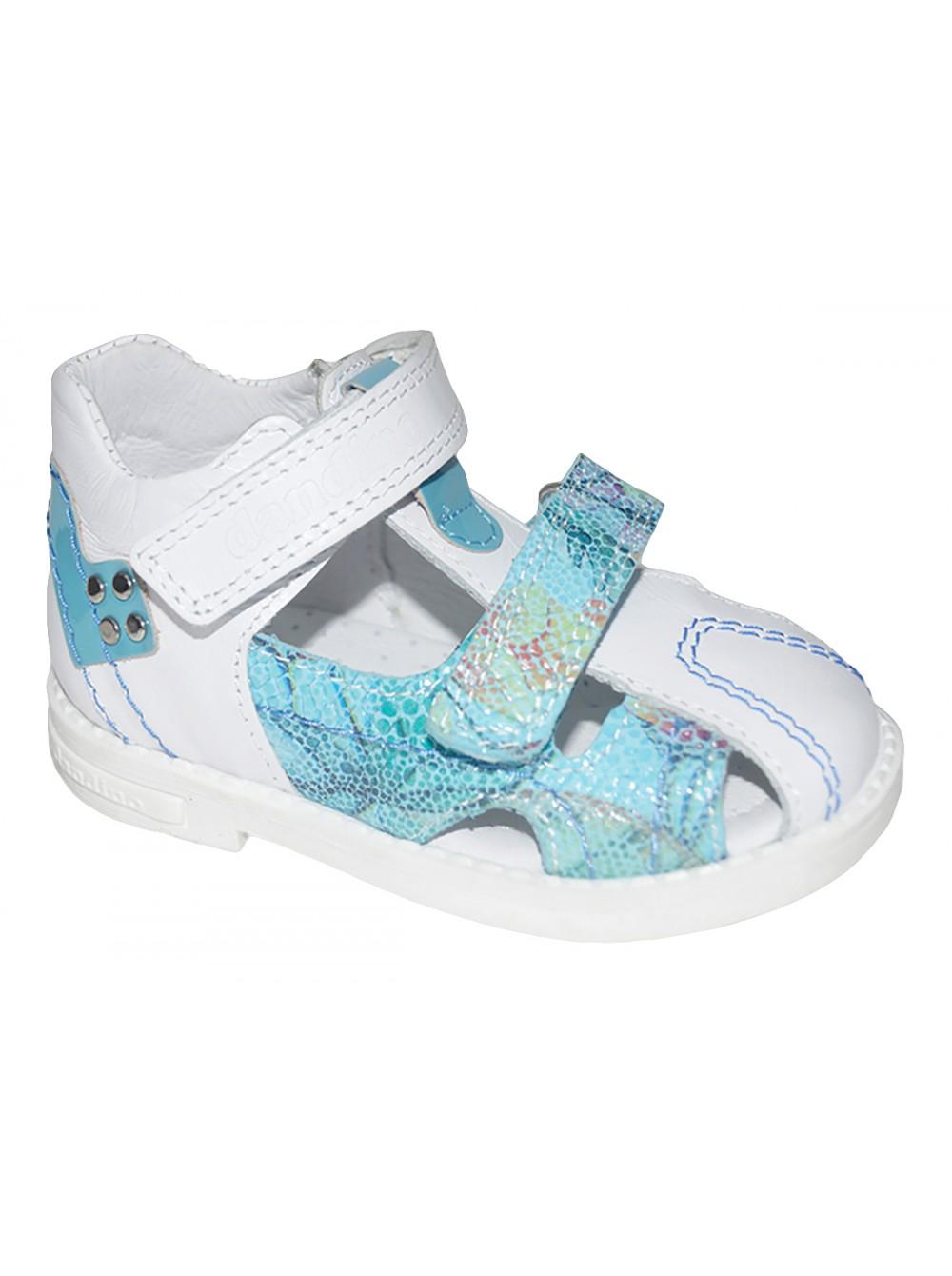 Туфли открытые DANDINO DND2155-23-8A_06 белый/синий (26-30)