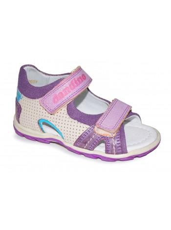 Туфли открытые DANDINO DND2144-13-9В-28-Z107-121-Z120-11 бежевый/фиолетовый (25-30)