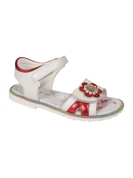 Туфли открытые Tom&Miki B-7233-C белый/красный (25-30)