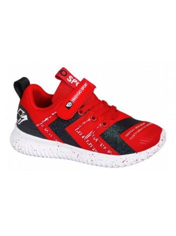 Кроссовки INDIGO 90-307A/12 красный (30-35)