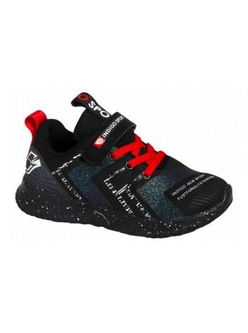 Кроссовки INDIGO 90-307C/12 черный (30-35)