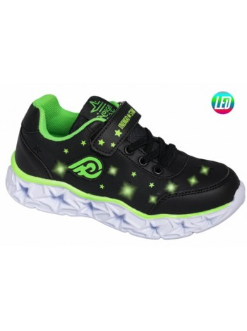 Кроссовки со светодиодами INDIGO 90-247D/8 черный (25-32)