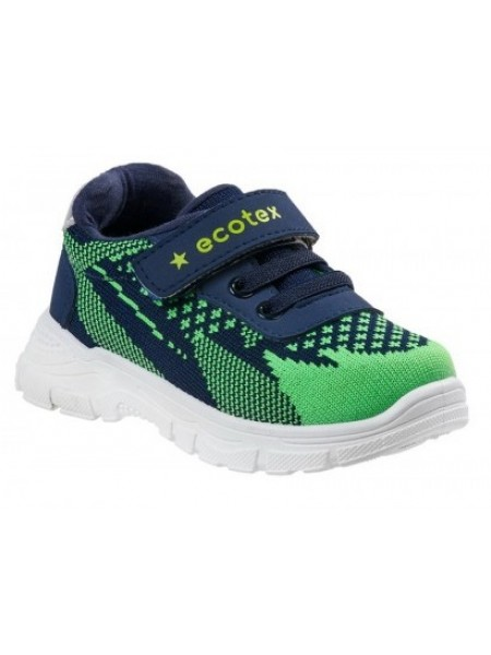 Кроссовки ECOTEX STAR 7-082TFS зеленый/синий (22-29)