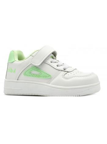 Кроссовки Канарейка F7146-3 белый/зеленый (26-31)