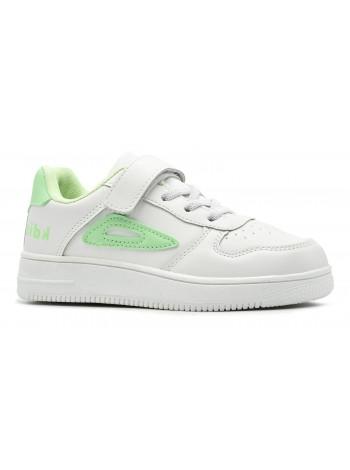 Кроссовки Канарейка E8146-3 белый/зеленый (31-36)