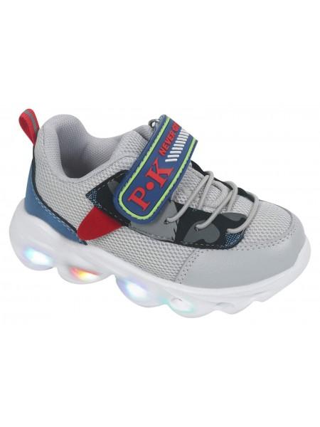 Кроссовки со светодиодами Tom&Miki B-7989-H серый (21-26)