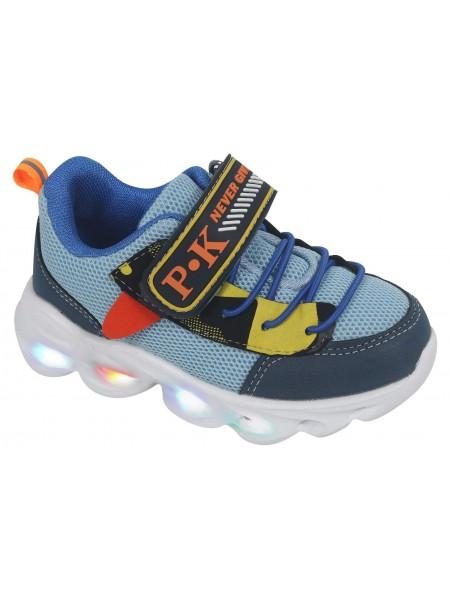 Кроссовки со светодиодами Tom&Miki B-7989-W синий (21-26)