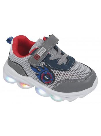 Кроссовки со светодиодами Tom&Miki B-7992-K серый (21-26)