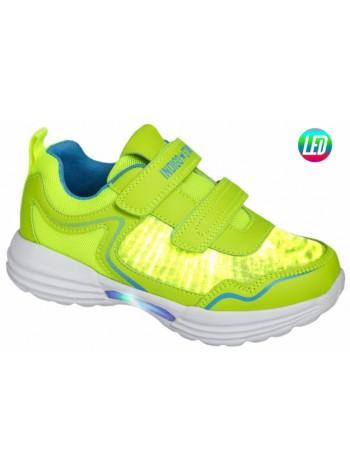 Кроссовки со светодиодами INDIGO 90-249C/6 салатовый (31-36)