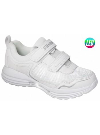 Кроссовки со светодиодами INDIGO 90-249A/6 белый (31-36)