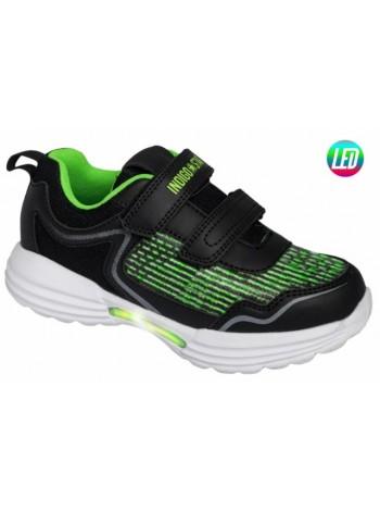 Кроссовки со светодиодами INDIGO 90-249D/6 черный (31-36)