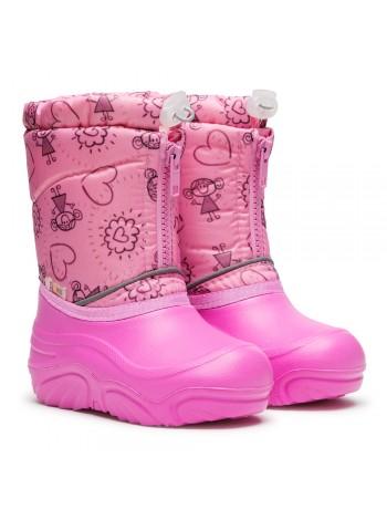 Сноубутсы Дюна 581/05 M девочки розовый (27-33)