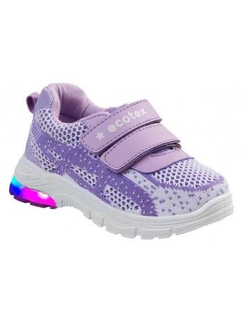 Кроссовки ECOTEX STAR со светодиодами 7-074TF фиолетовый (22-29)