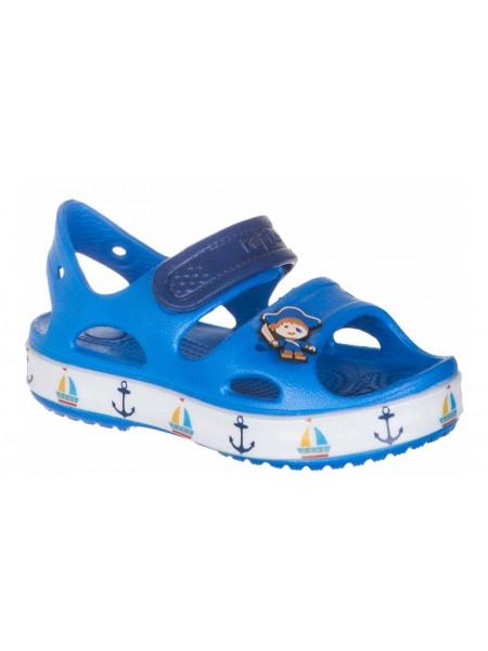 Пляжная обувь со светодиодами Kapika 82131 голубой (25-30)