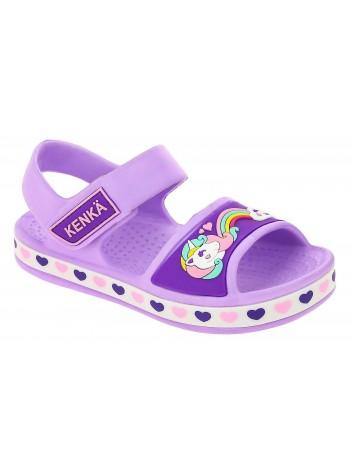 Пляжная обувь KENKA, материал ЭВА, цвет сиреневый, оптом от производителя , без размерных рядов, купить по низкой цене, OIC_7260_VIOLET, размер детской обуви 24 по 29