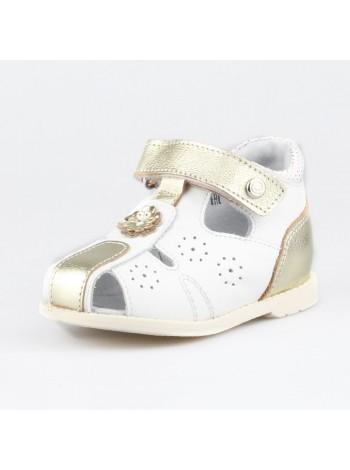 Туфли открытые Elegami 7-806901803 белый/золото (18-23)