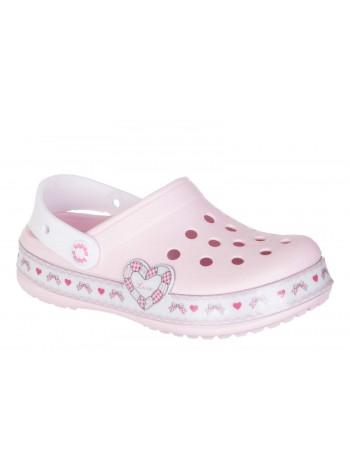Кроксы со светодиодами Капика 82167 нежно розовый (27-31)