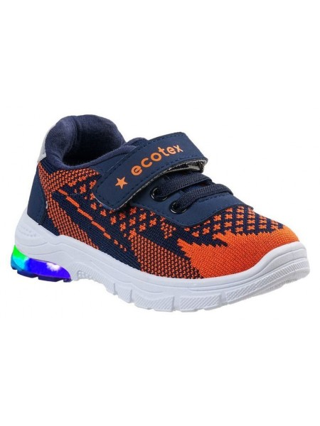 Кроссовки со светодиодами ECOTEX STAR 7-083TF синий/оранжевый (22-29)
