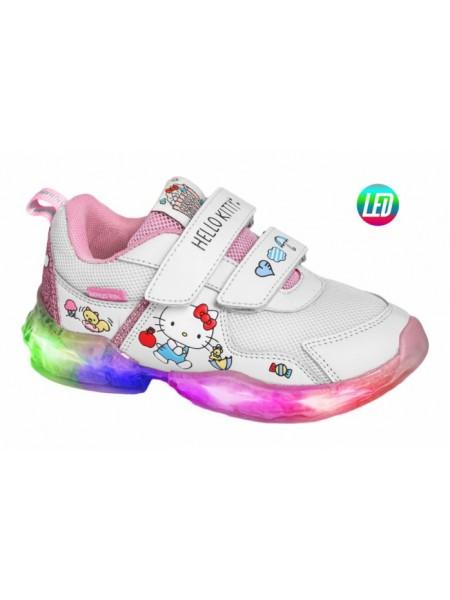 Кроссовки со светодиодами INDIGO HK90-003A/12 белый (26-31)