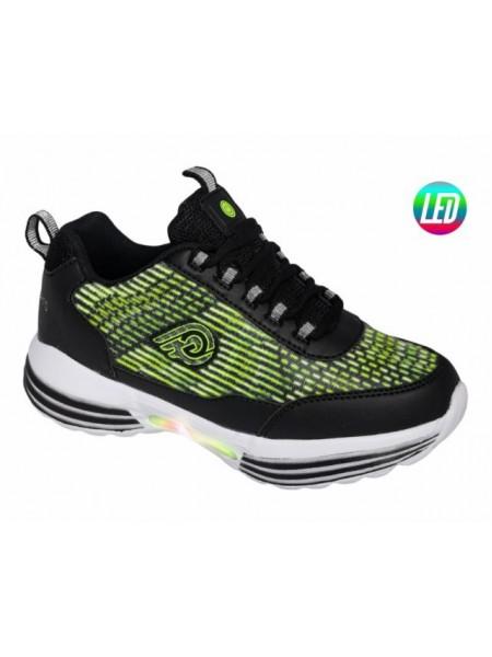 Кроссовки со светодиодами INDIGO 90-317B/8 зеленый (33-36)