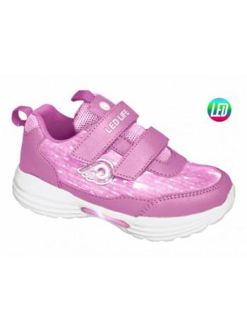Кроссовки со светодиодами INDIGO 90-248B/6 розовый (25-30)