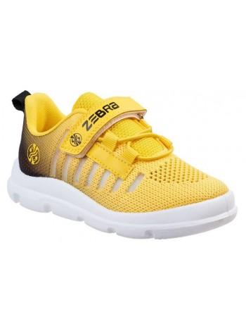 Кроссовки Зебра 16400-12 желтый (27-32)