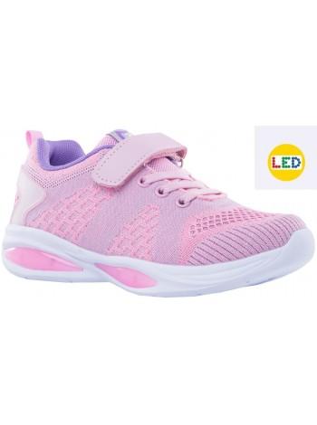 Кроссовки со светодиодами Котофей 644211-72 розовый (31-36)