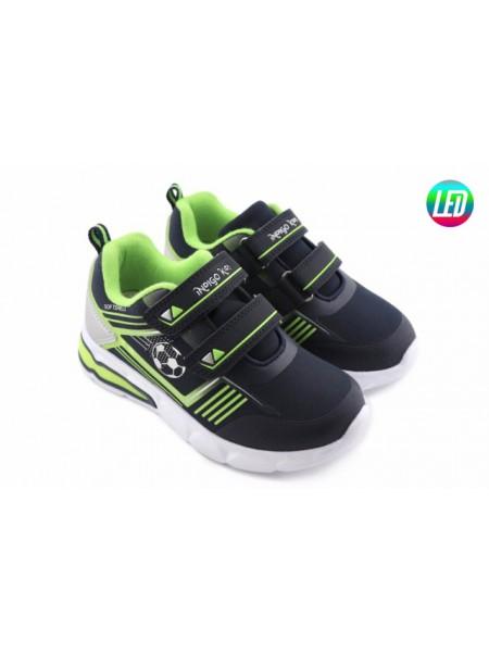 Кроссовки со светодиодами INDIGO 91-004B/12 синий/зеленый (25-30)