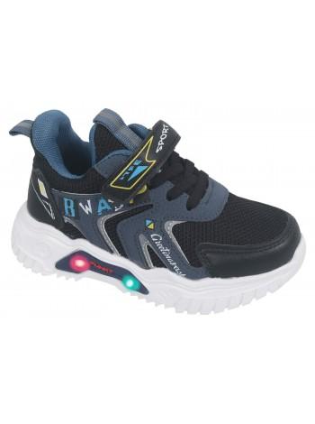 Кроссовки со светодиодами Tom&Miki B-9110-C синий (27-32)