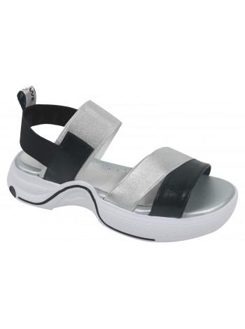 Туфли открытые Tom&Miki B-9121-M серебро (35-40)